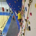 le mur de grimpe vue d'en haut !